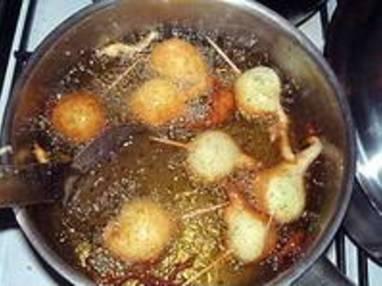 Beignets d'escargots façon asiatique - La pâte à beignet et la cuisson - Etape 11