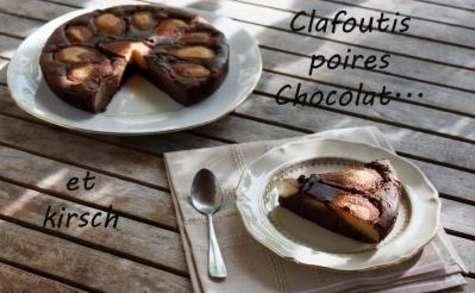 tarte clafoutis chocolat poire