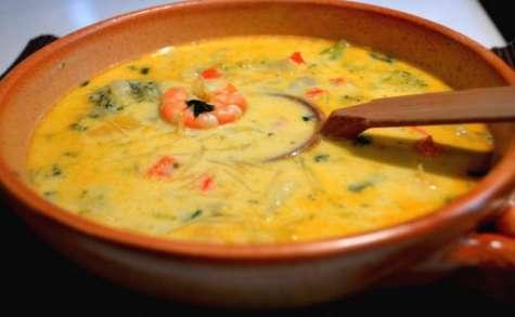 recettes de soupe de poisson par tastygourmandise chorba au fruit de mer soupe de crevettes. Black Bedroom Furniture Sets. Home Design Ideas