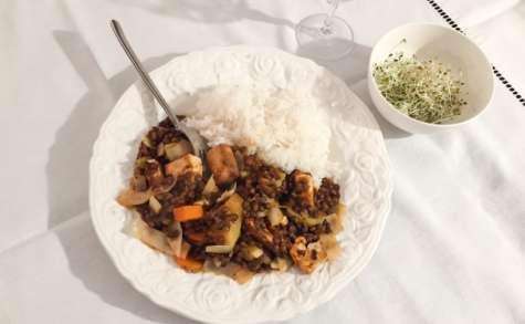 Lentilles au tofu