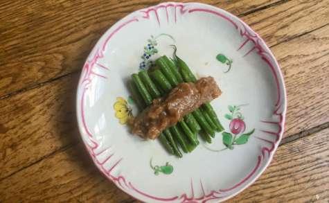 Haricots verts sauce miso aux noix
