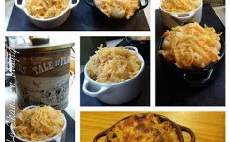le Mac and cheese ou les macaronis au cheddar, recette américaine.
