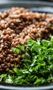 Salade aux grains de sarrasin