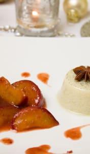 Gâteau de semoule et prunes