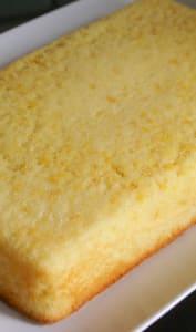Moelleux au citron à forme rectangulaire