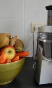 Centrifugeuse et corbeille de fruits et légumes
