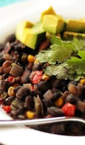 Ragoût de haricots noirs cubains