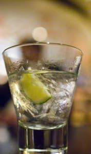 Gin avec rondelle de citron