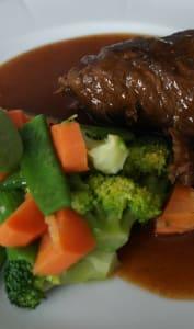 Boeuf braisé et légumes