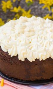 Moelleux au chocolat surmonté d'une crème chantilly