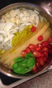 One pot pasta ou one pan pasta
