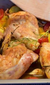 Cuisine simple poulet au four