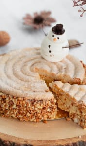 Gâteau entremets de noël