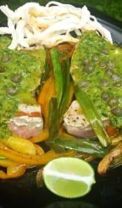 Thon avec sauce chimichurri