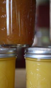 Beurre pêche vanille et lemon curd
