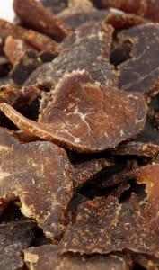 Viande séchée typique d'Afrique