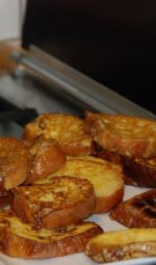 Assiette de pain perdu
