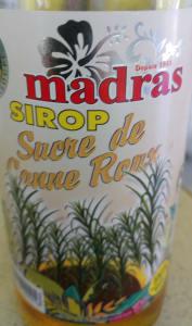 Bouteille de sirop de sucre de canne