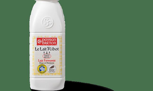 Bouteille de lait ribot de la marque Paysan Breton