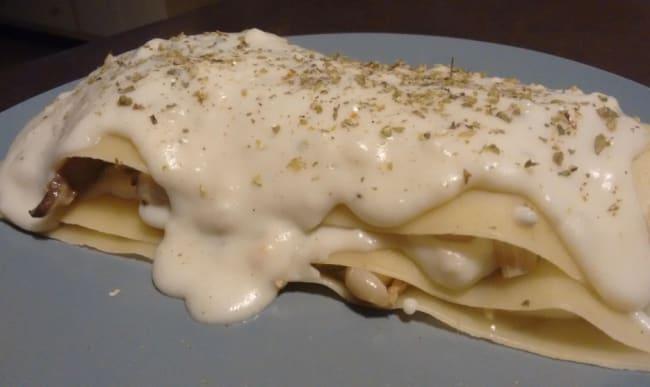 Lasagne et sauce béchamel