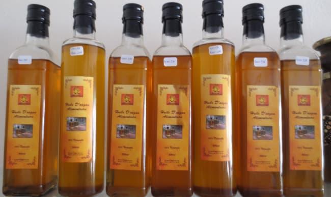Bouteilles huile d'argan