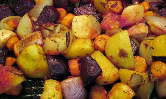 Légumes racines rôtis
