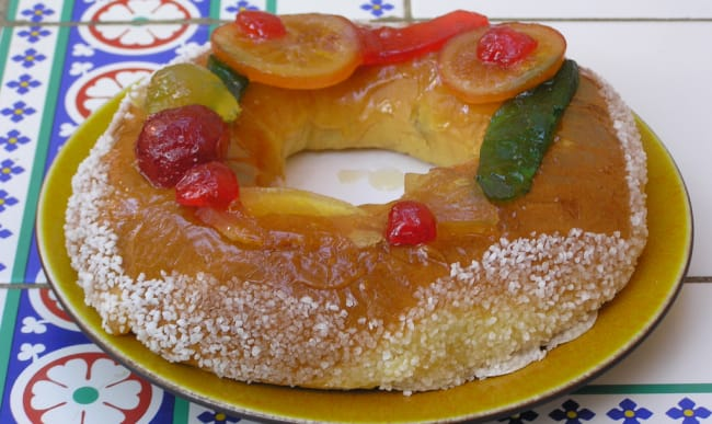 Brioche des Rois avec fruits confits
