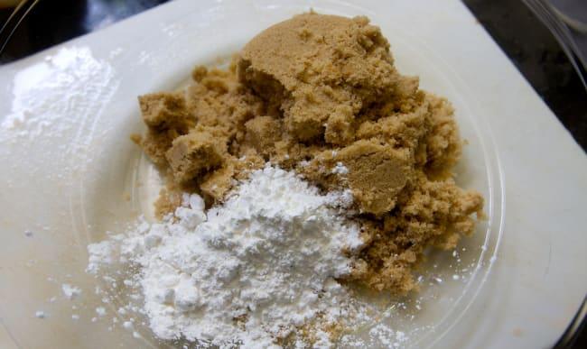 Cassonade et farine