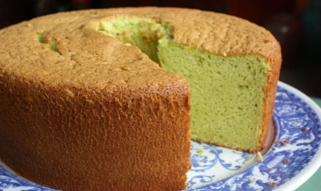 Chiffon cake au pandan