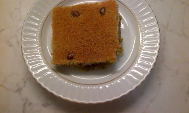 Kadaïf avec pistaches