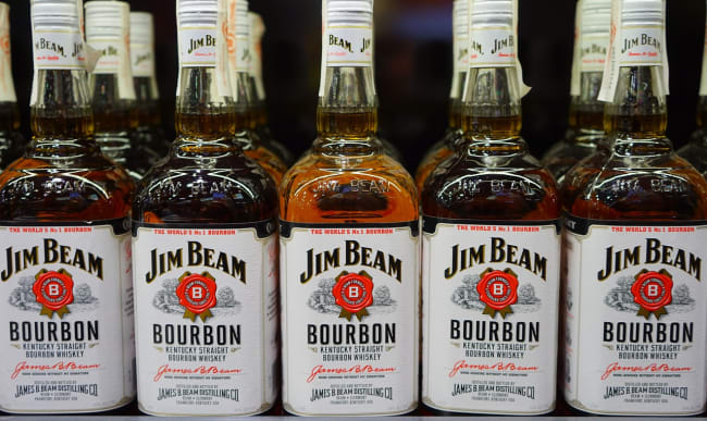 Bouteilles de Bourbon en vente