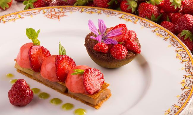 Feuillantine de fraises