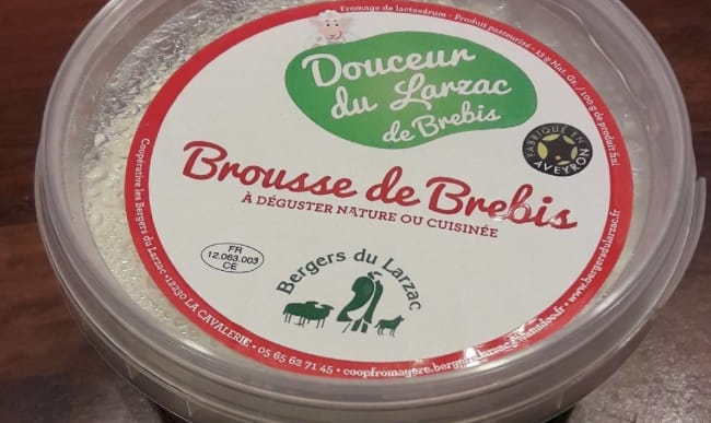 Pot de fromage brousse de brebis