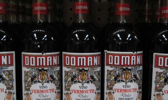 Bouteilles de vermouth italien