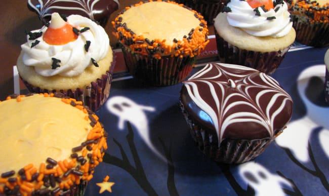 Assortiment de cupcakes d'halloween