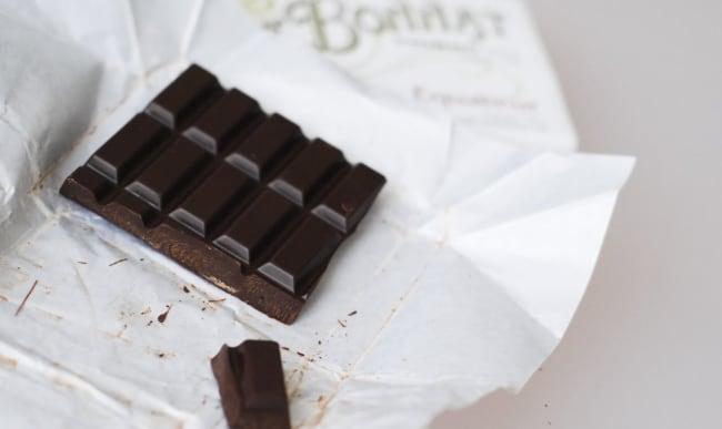 Tablette de chocolat noir