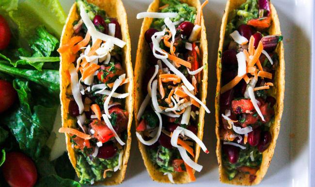 Tacos mexicains végétariens