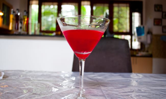 Verre de cocktail russe à la vodka