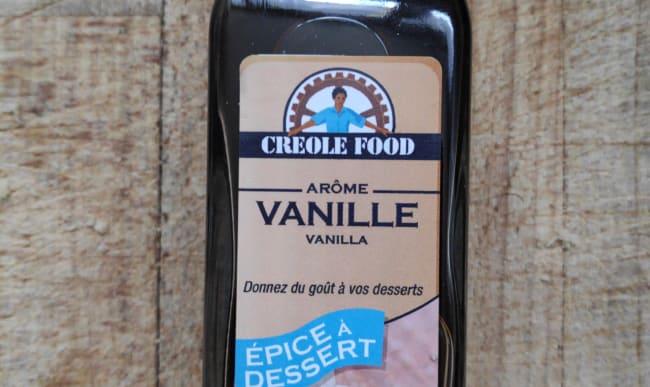 Flacon de vanille liquide