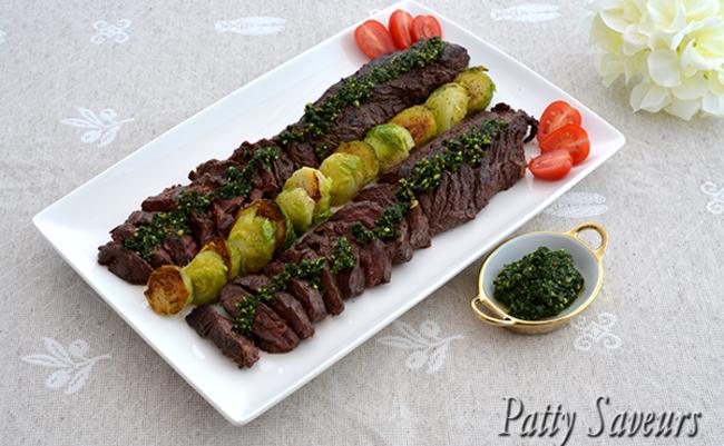 Onglet Grillé Pesto de Persil