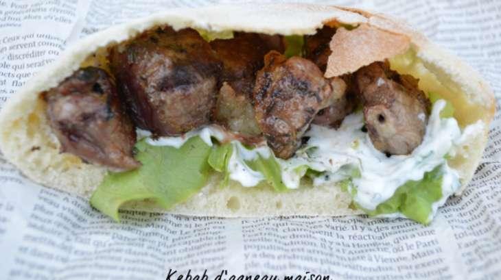 kebab d agneau maison recette par plaisir et equilibre. Black Bedroom Furniture Sets. Home Design Ideas