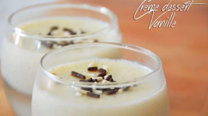 cr me dessert la vanille fa on danette recette par jawahir. Black Bedroom Furniture Sets. Home Design Ideas
