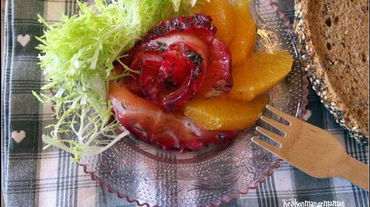 Saumon graflax aneth et betterave recette par - Saumon gravlax rapide ...