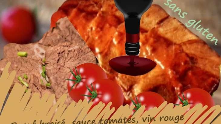 boeuf brais sauce tomate au vin rouge slow food recette par cuisine maison d 39 autrefois. Black Bedroom Furniture Sets. Home Design Ideas