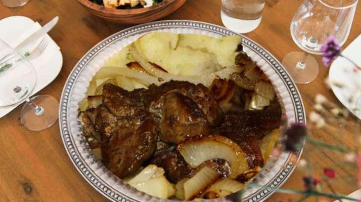 Foie veau g nisse aux oignons recette par cuisine maison d 39 autrefois comme grand m re - Cuisiner le foie de veau ...