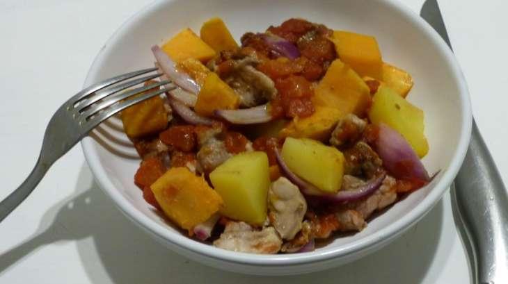 Tian de poulet la patate douce recette par gourmicom - Recette poulet patate douce ...