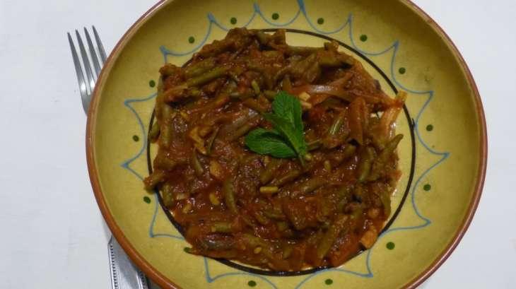 Haricots verts la tomate et au menthe recette par - Cuisiner haricots verts surgeles ...