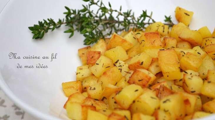 pommes de terre saut es au thym recette par ma cuisine au fil de mes id es. Black Bedroom Furniture Sets. Home Design Ideas