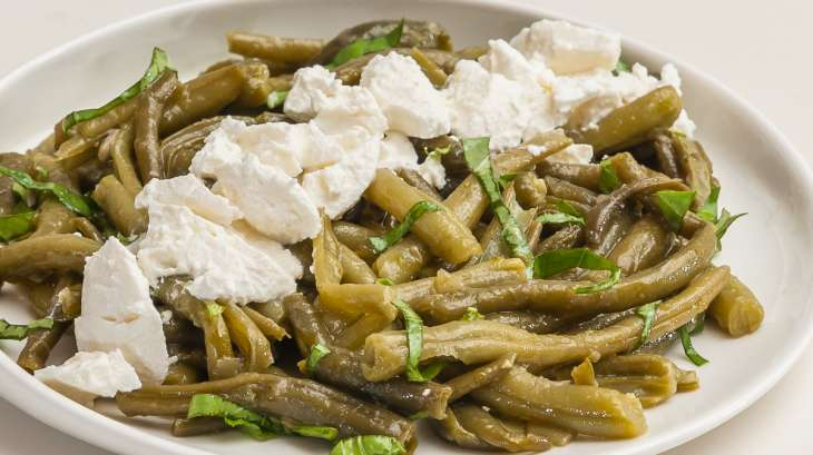salade de haricots verts la ricotta recette par kilometre 0. Black Bedroom Furniture Sets. Home Design Ideas