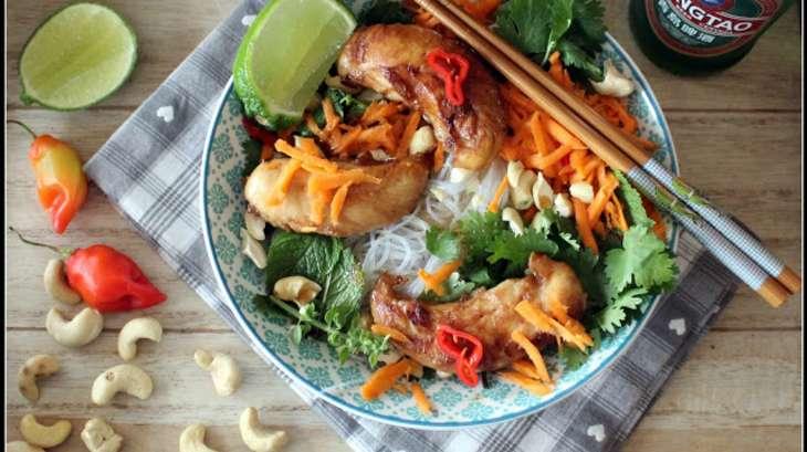 bowl noodles et poulet grill caram lis inspiration vietnam recette par keskonmangemaman. Black Bedroom Furniture Sets. Home Design Ideas